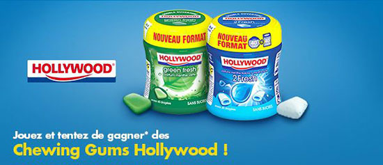 Gagnez des chewing-gums Hollywood