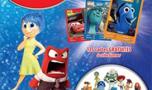 Les cartes Pixar à collectionner