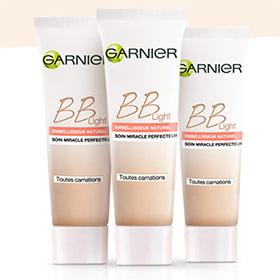 Échantillons gratuits BB light de Garnier : 204'609 à gagner