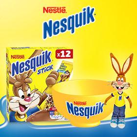 Concours Nesquik : 200 box (bol, sticks et peluche) à gagner