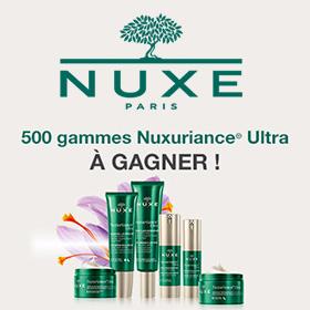 Concours Nuxe : 101'000€ de produits Nuxuriance Ultra à gagner