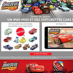 Jeu Disney : Tentez de gagner un iPad mini et des voiturettes Cars