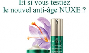 Echantillons gratuits de soins Nuxuriance Ultra de Nuxe
