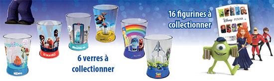 Obtenez des verres et des figurines Pixar