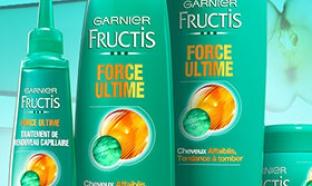 Jeu Garnier : 460 lots de soins Fructis Force Ultime à gagner