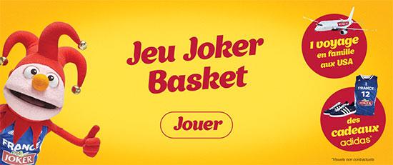 Jeu concours Joker Basket