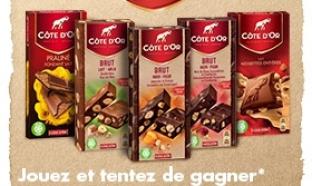 Jeu Côte d'OR avec 900 tablettes de chocolat à gagner