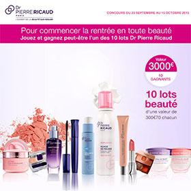 Jeu Doctissimo : 10 lots beauté Dr Pierre Ricaud à gagner