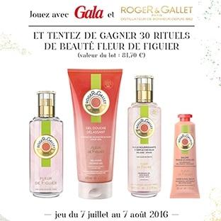 30 lots de 4 produits de beauté Roger & Gallet à gagner