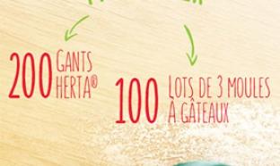 Jeu Herta : 200 gants et 300 moules à gâteaux à gagner