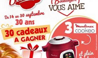 Concours La Boulangère : 3 multicuiseurs Cookeo… à gagner