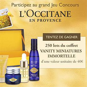250 lots de produits de beauté L'Occitane en Provence à gagner