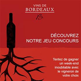 Jeu-concours des vins de Bordeaux : 6 week-ends à gagner