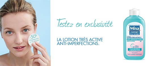Tentez de tester la lotion très active anti-imperfections