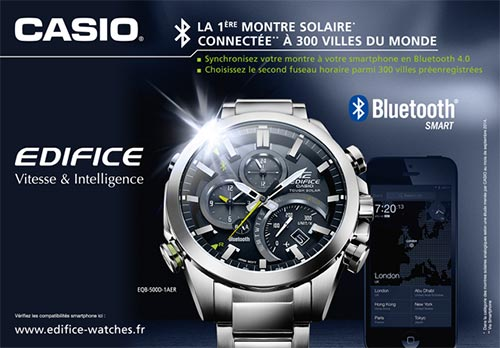 Test gratuit de la montre Casio Edifice