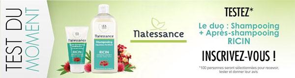 Testez 2 produits capillaires Natessance