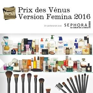 Prix des Vénus Version Femina 2016 : 201 lots beauté à gagner