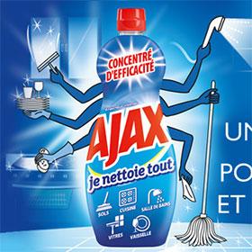 Optimisation Leclerc : 2 gels nettoyants Ajax à 0.85€