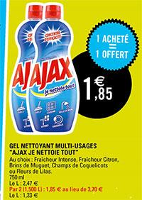 Promotion Leclerc sur le gel Ajax