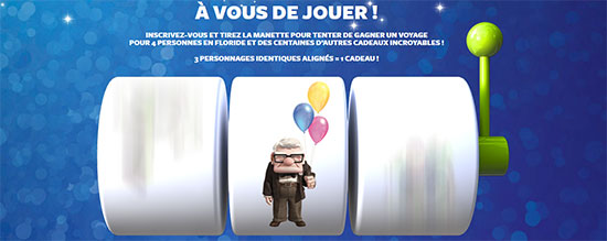 Jouez avec vos héros Disney Pixar