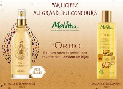 duos de produits de beauté L'Or Bio de Melvita à gagner