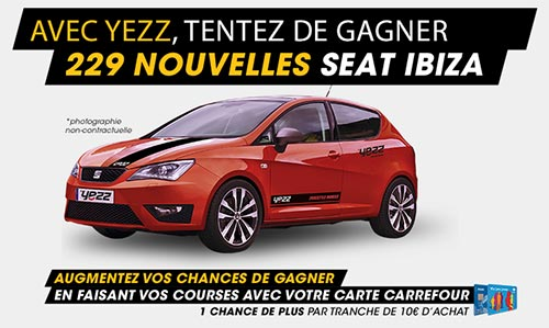 229 voitures Seat Ibiza à gagner