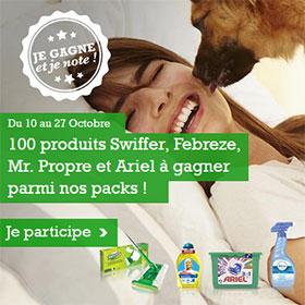 200 lots Swiffer + Mr Propre ou Febreze + Ariel à gagner