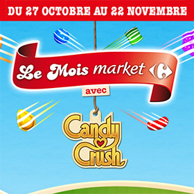 Concours Carrefour Market Candy Crush : 1009500 lots