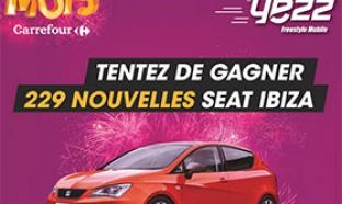 Jeu Le Mois Carrefour : 229 voitures Seat Ibiza à gagner !