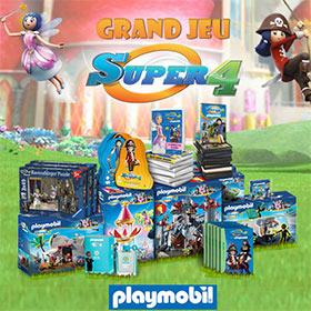 Jeu «Super 4 : Plus de 300 jouets Playmobil, Dujardin, … à gagner !