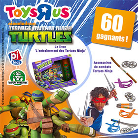 Jeu concours Toys'R'Us : 60 lots Tortues Ninja à gagner