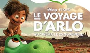 Concours Les Crudettes – Le Voyage d'Arlo : 421 lots à gagner