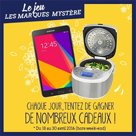 Jeu concours Les Marques Mystère avec MVC : 20 lots à gagner
