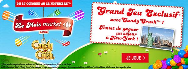 Carrefourmarket.fr Code bonus pour le jeu Candy Crush