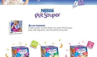 Testez les pots P'tit Souper de Nestlé Bébé