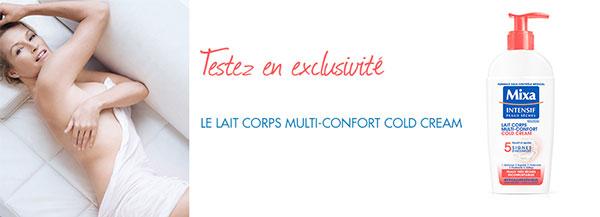 Test Lait Corps Multi-Fonction Cold Cream de Mixa