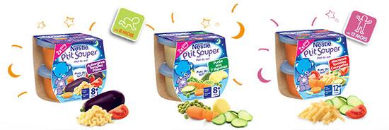 Testez les produits produits Nestlé P'tit Souper