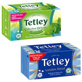 Testez les thés vert & noir de Tetley : 400 boîtes gratuites