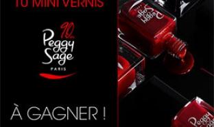 67 lots de 10 mini vernis Peggy Sage à gagner
