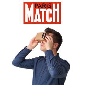 Visionneuse Cardboard gratuite offerte par Paris Match