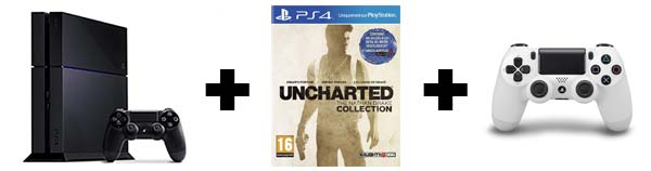 PACK 2 MANETTES + UNCHARTED COLLECTION