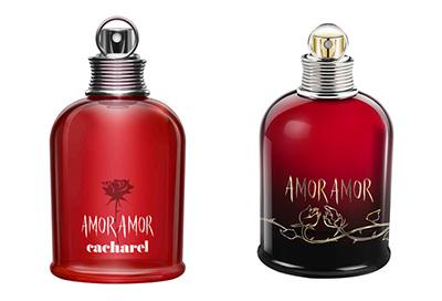 échantillons du parfum et de l'eau de toilette Cacharel Amor Amor