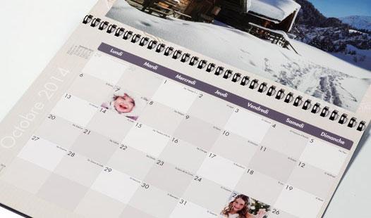 Personnaliser un calendrier Photoweb gratuit