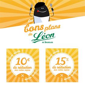 Bons de réduction Léon de Bruxelles à imprimer : Jusqu'à -10€