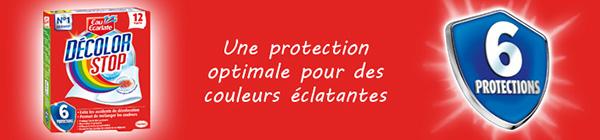 Testez gratuitement les lingettes Decolor Stop 6 Protections