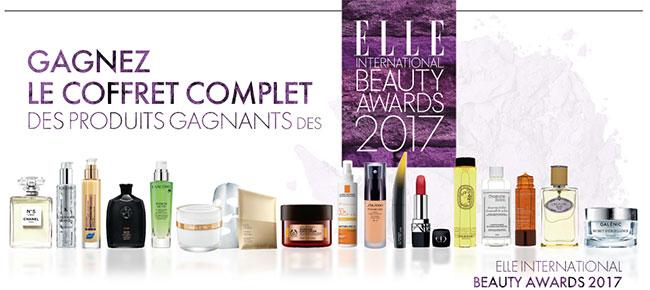 ELLE International Beauty Awards 2017 : Gagnez les produits de beauté élus