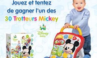 Jeu concours Infobébés : 30 trotteurs Mickey à gagner