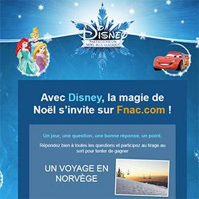 Jeu Fnac : 65 cadeaux Disney et 1 voyage en Norvège à gagner
