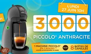 Machines à café Piccolo de Dolce Gusto offertes