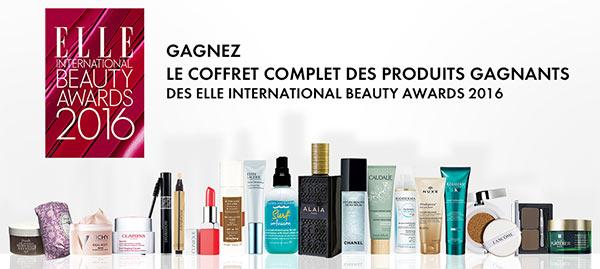 Produits de beauté élus aux ELLE International Beauty Awards 2016